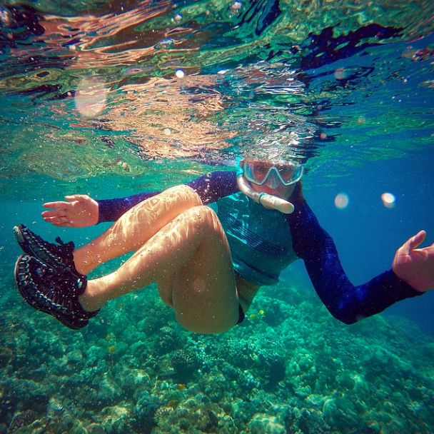 KEEN's all terrain UNEEK sandals can also breathe underwater apparently... Photo cred: instagram.com/lealani923