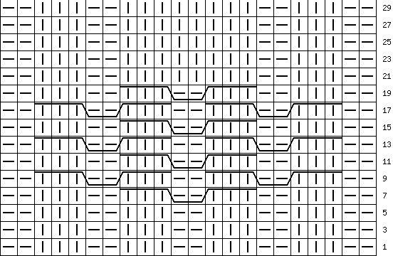 узор 21| каталог вязаных спицами узоров