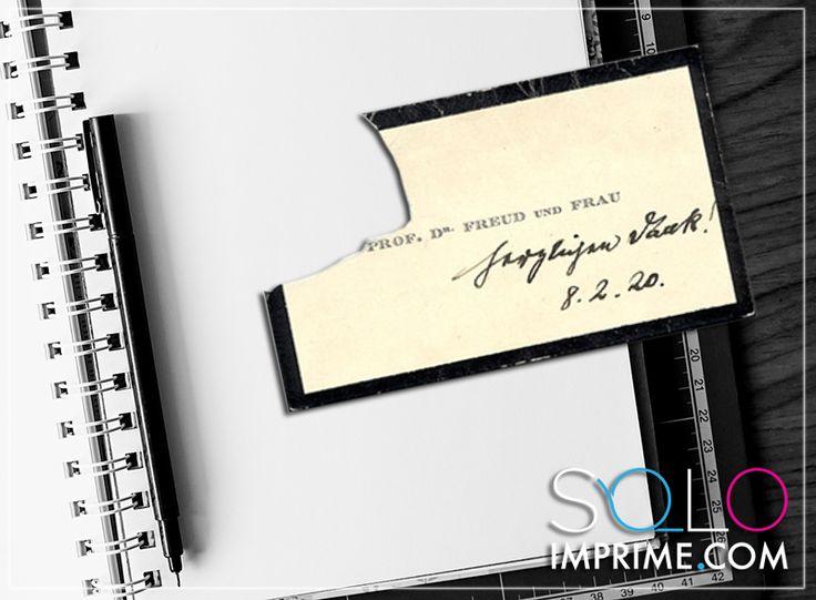 Tarjeta de Presentación, Originales, famosos, Business Card, Sigmund Freud