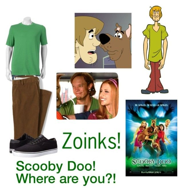 """Norville ""Shaggy"" Rogers-Scooby Doo"" by silverbellatrix ❤ liked on Polyvore featuring Croft & Barrow, Lands' End, Lakai, men's fashion and menswear"