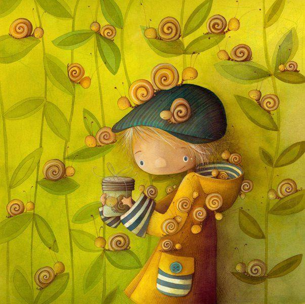 Garçon escargots Ketto' snails boy by Ketto Design, via Flickr