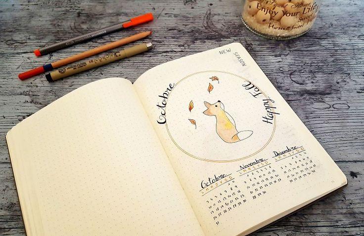 Octobre Bullet Journal : Découvrez un aperçu du mois d'Octobre dans mon Bullet Journal... Une nouvelle saison, un nouveau mois et une nouvelle organisation!