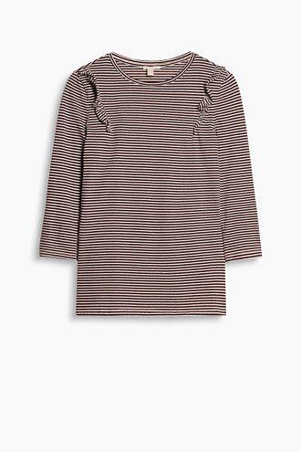 Esprit / Softes Rüschen-Shirt aus Baumwoll-Mix