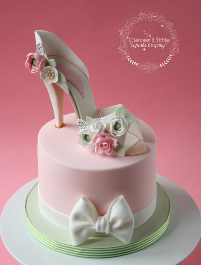 Bridal Shower Cake by The Clever Little Cupcake Company