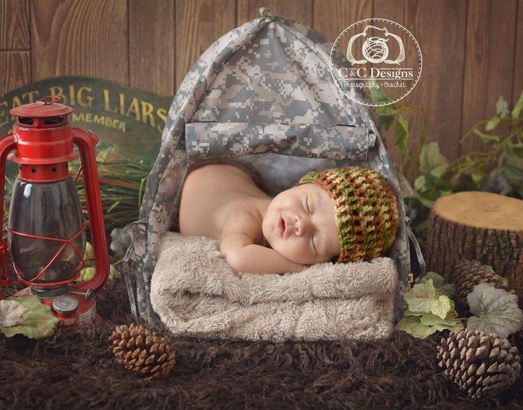 #newbornphotography #outdoor #camping #camo #c&c desings fotografía infantil