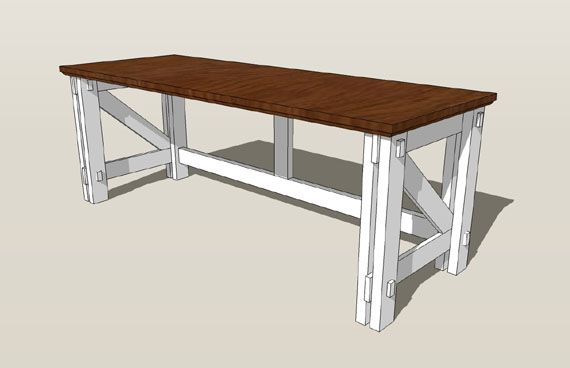Custom Computer Desk Plans  Simple, easy to build...just need to find an old desk top about 6 feet long.