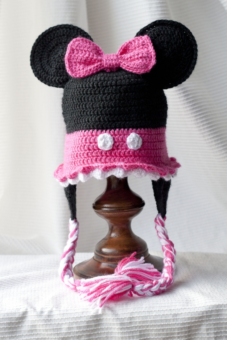 Minnie Mouse Crochet Baby Hat Pattern : Minnie Mouse Custom crocheted hat So cute, Trips and You ...