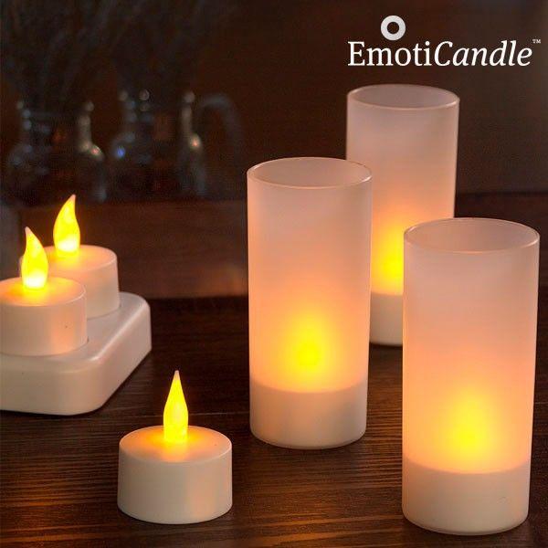 Prekvapte svojho partnera osobitným romantickým štýlom vďaka nabíjacím LED sviečkam EmotiCandle. Ich jemné LED svetlo vnesie do vášho domova hrejivú atmosféru.