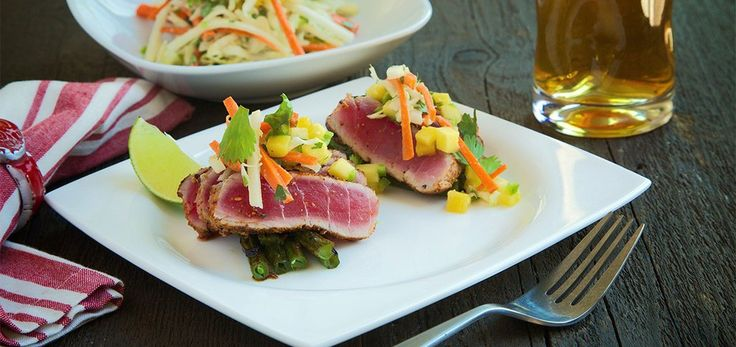Searing sushi-grade ahi tuna with a combo of BBQ seasonings and sesame seeds enhance its natural goodness. Asian inspired dish is sweet, spicy, tangy, and savory!
