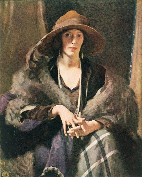 W B McInnes: Miss Collins :: Archibald Prize 1924 :: Art Gallery NSW. Oil on canvas.