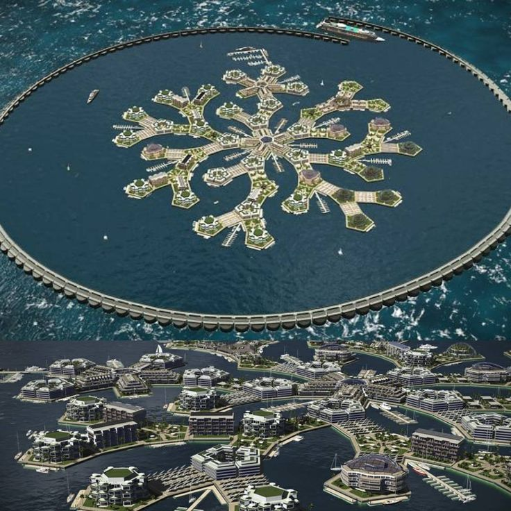 Worlds First Floating City To Emerge In The Pacific Ocean By 2020 #ecofriendly #climate #efficient #homes #ActOnClimate #Renewables #environment #landscape #cleanenergy #floatingcity #ocean #cruise #island #city #realestate #home #water #pacific #blogger