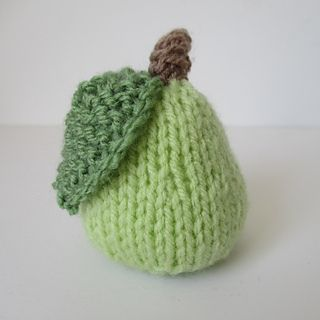 LITTLE PEAR TOY FOOD KNITTING PATTERNS