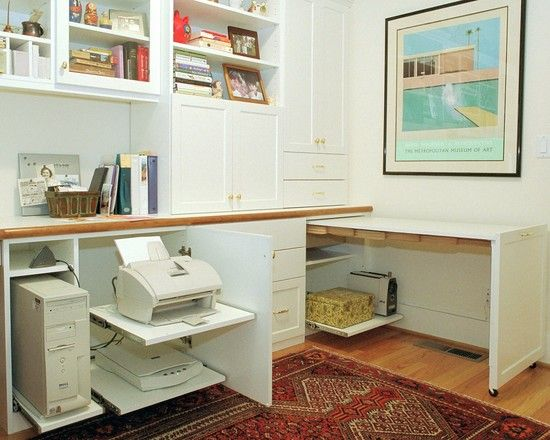 Computer Desk Design, Pictures, Remodel, Decor and Ideas - page 13 - Hide yo Printer!  Hide yo wifi!