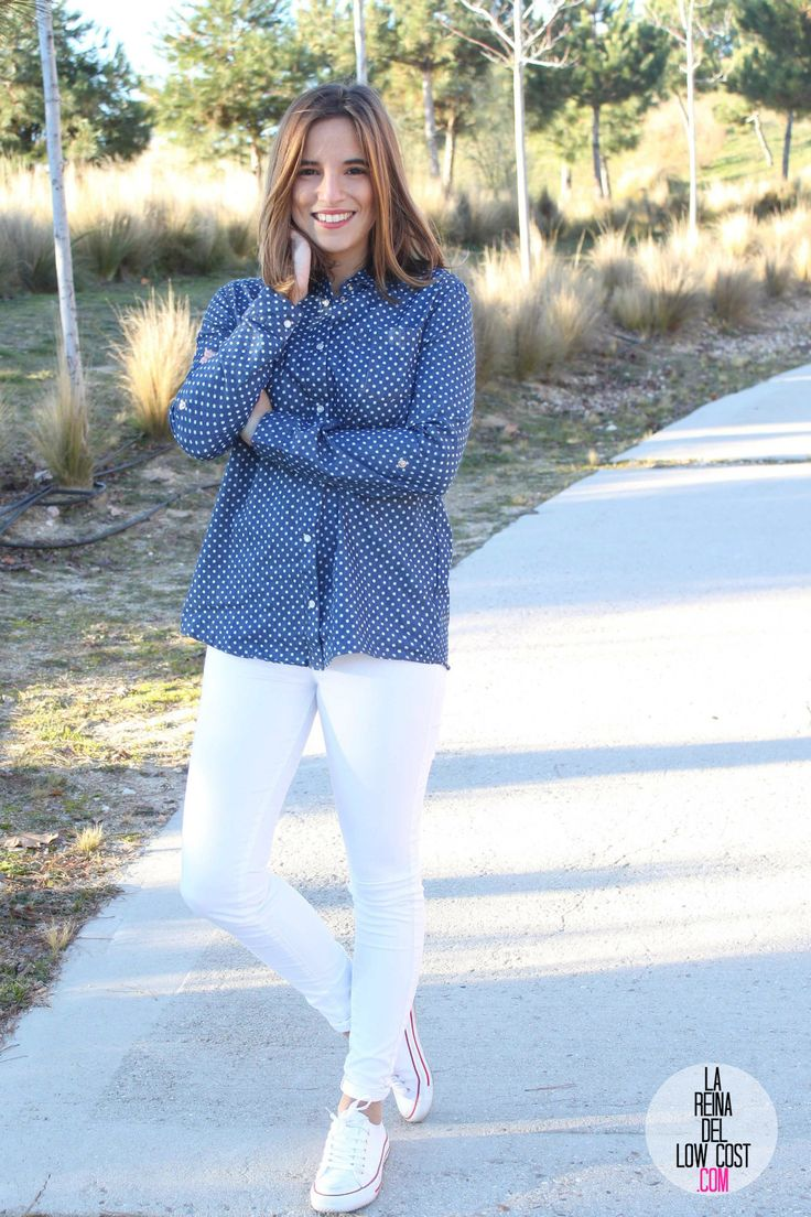 kimod blog de moda barata la reina del low cost pilar pascual del riquelme camisa vaquera camisa con lunares camisa topos bershka primark kimod barcelona tienda online de ropa barata style outfit look informa