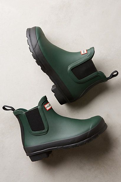 Hunter Original Two Tone Chelsea Boots #anthrofav #greigedesign