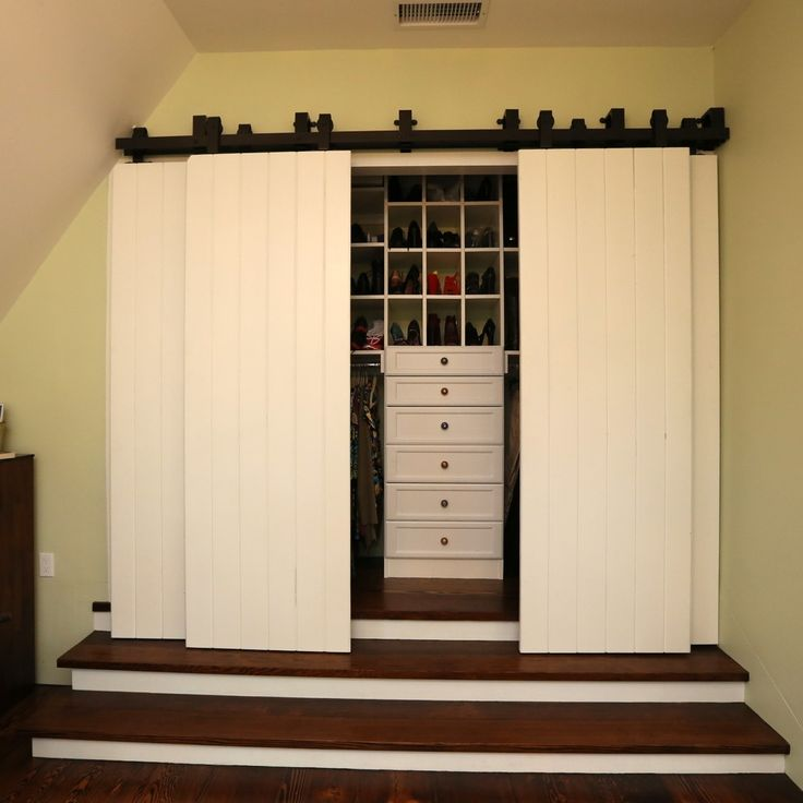 Barn Wood Sliding Closet Doors