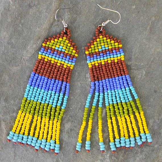 Style Seed Bead Earrings by Anabel27shopBeads Inspiration, Bead ...