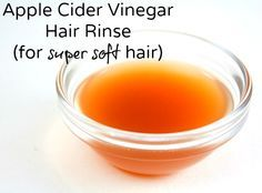 Apple Cider Vinegar Hair Rinse for super soft hair - NaturalFamilyToday.com