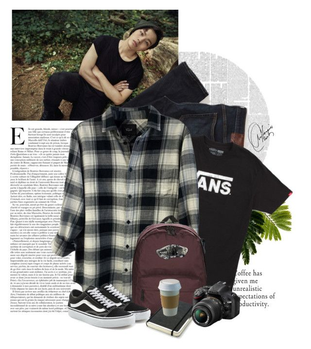 """""""Back to reality"""" by gemaglo on Polyvore featuring Abercrombie & Fitch, Vans, Rails, Nikon, men's fashion y menswear"""