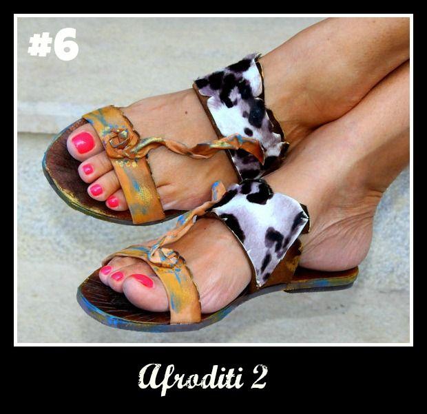 Number 6, Afroditi 2. Click the link for more! http://www.greekinnovativesandals.com/2015/01/afroditi-2.html €149.00