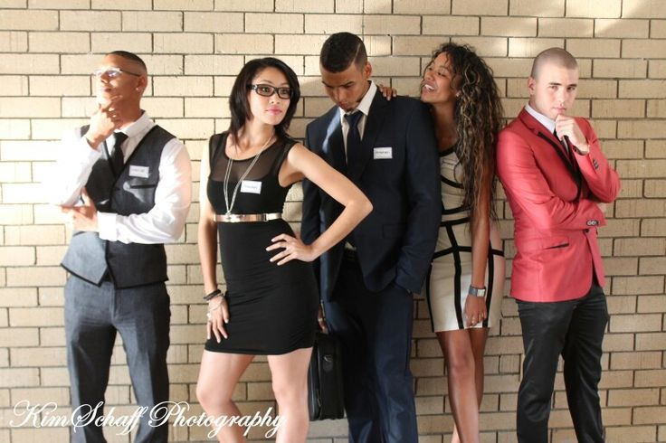 Suits 21st Birthday Party Models-Allan Roger, Kaylynn Charles, Jaydi Charles, Carmen Van Wyk, Brent Christians