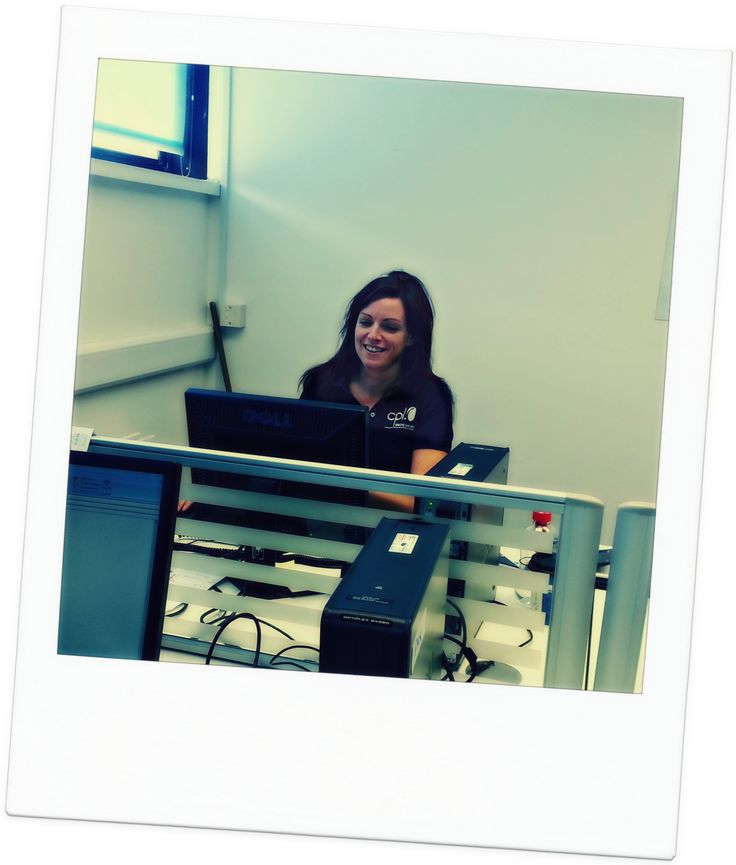 Anne-Marie Fox working away on our Engineering desk
