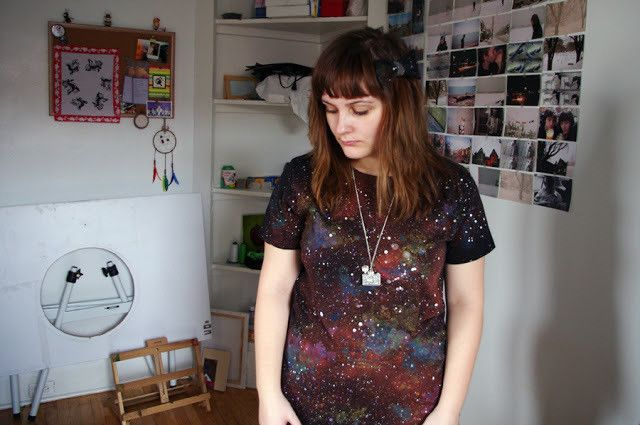 Galaxy Shirt Tutorial  •  Free tutorial with pictures on how to make a decorated top in under 60 minutes