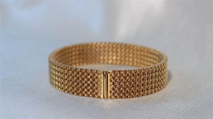 bracciale donna in oro 18kt con chiusura invisibile