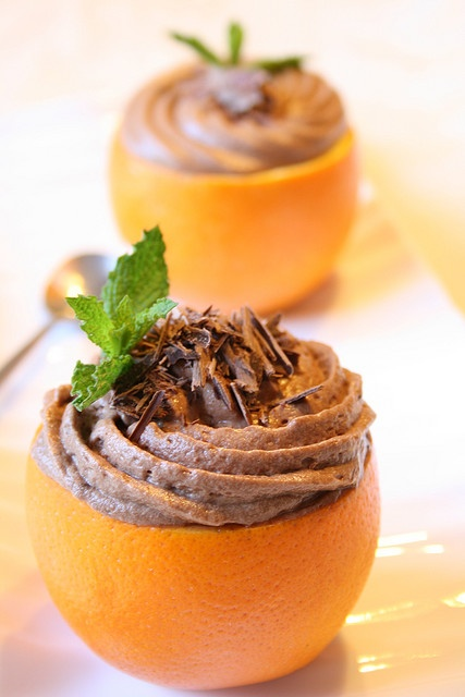 Chocolate Orange Mousse. A match made in dessert heaven! @Food Network