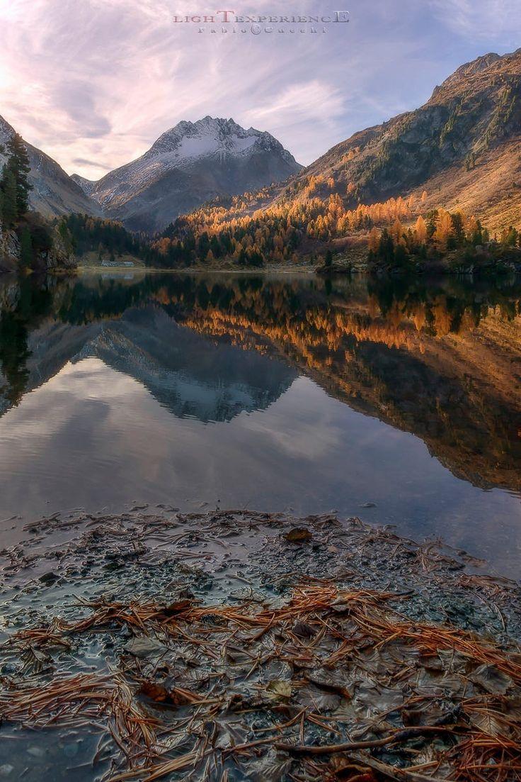 Cavloc Lake in Engadine, Switzerland