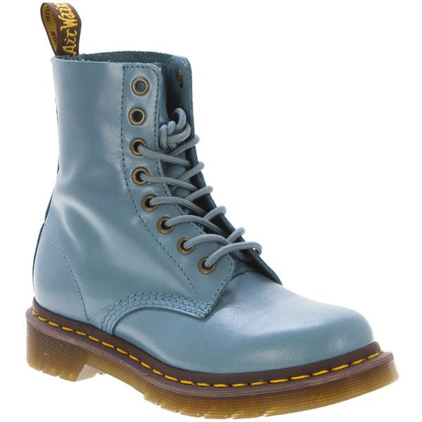 Dr. Martens Pascal (56.905 CLP) ❤ liked on Polyvore featuring shoes, boots, ankle booties, botas, dr. martens, lace-ups, ankle boots, laced up boots, low heel bootie and lace-up ankle booties
