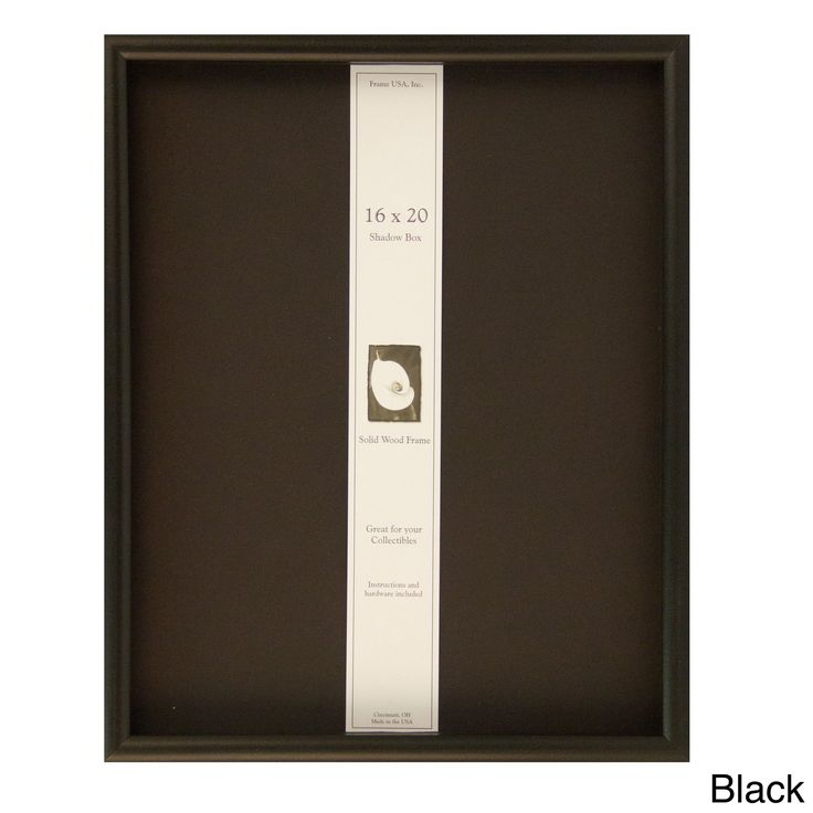 Shadow Box Elite 16x20 Frame (Black) (Wood)