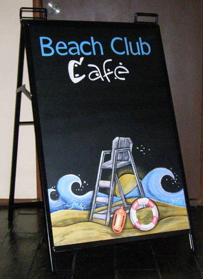 A-Frame blackboard signs - Blackboard Artworx, Signwriting