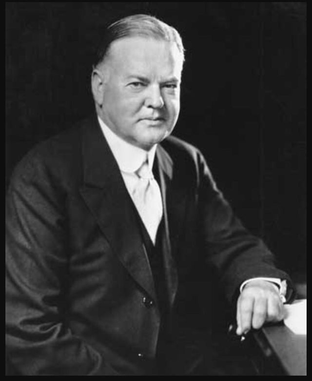 During the 1930s Herbert Hoover was the target of blame and believed to be the cause of the depression by many. He saw the need for government to act in at least an advisory role for business and industry. The president was also for public works projects that would ease unemployment. The biggest of these was the Hoover Dam. Hoover also created the Home Loan Act to give farmers low interest loans.