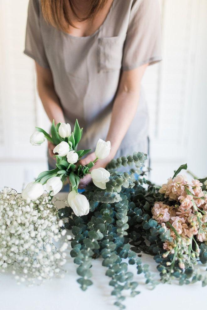 DIY Grocery Store Flower Arrangements