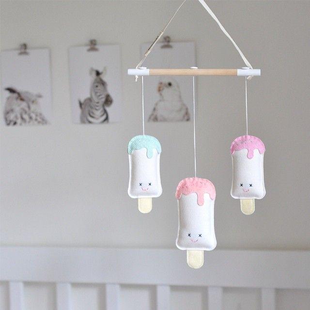 #nurserymobile #iceblock #iceblockmobile #popsicle #handmade #pastels