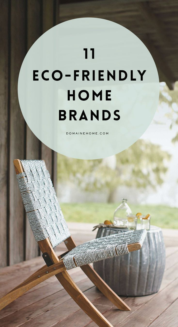 Celebrate Earth Day by opting to shopping with eco-friendly home brands:
