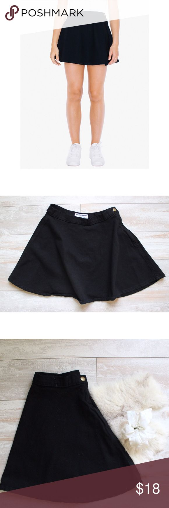 American Apparel Circle Skirt ⭐️ American Apparel circle skirt, great conditions, looks new, super cute paired with Crop top as seen above😍, measurements laying flat waist 13' length 15' ⭐️bundle&save⭐️ American Apparel Skirts Circle & Skater