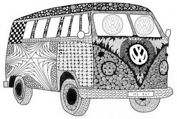 Mandala Volkswagen Vw Coloring Page For Adults Bear Coloring