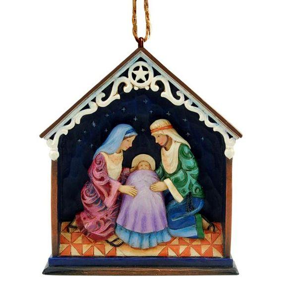Jim Shore Holy Family Stable ornament - De Vrolijke Engel