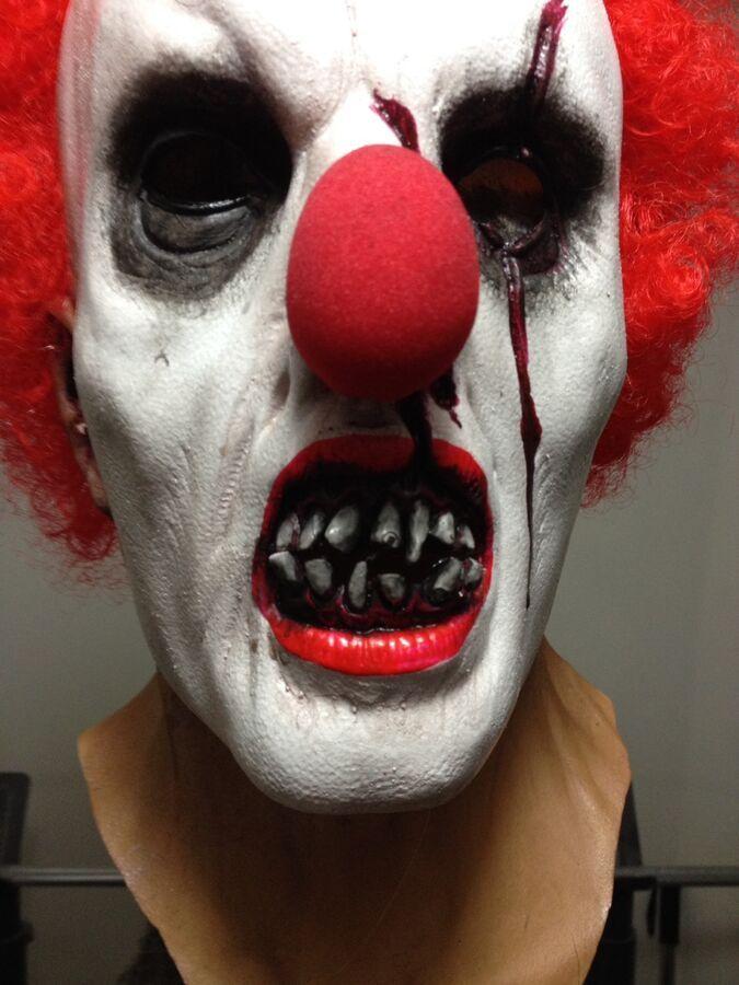 Clown Vampire Scary Halloween Adult Mask