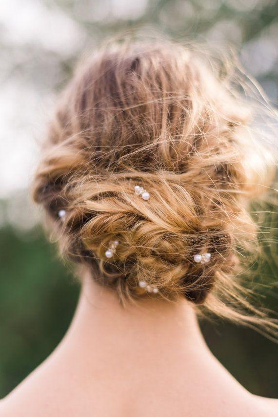 Set di 5 Set di Pin di capelli perline oro di di ABitofLoveWedding
