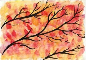 Draußen wird es bunt - der Herbst steht vor der Tür.  Bevor alle Blätter von den Bäumen fallen, wäre es eigentlich an der Zeit, die hübschen, leuchtenden Bäume in einem Wasserfarbenbild festzuhalten.  Quelle: Lernbasar.de