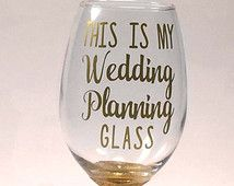 My Wedding Planning - Best Wine Gifts - Engagement Presents For Her - Unique Engagement Gift Ideas - Gift For Wedding Planner - Wine Glasses