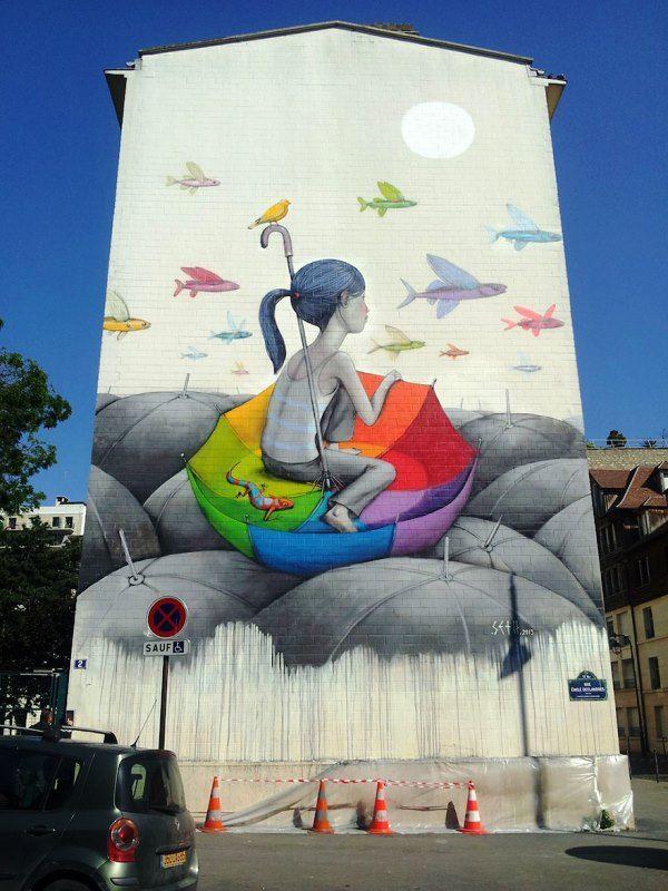 Seni Jalanan Lukisan Mural di Kota Paris di Perancis 3
