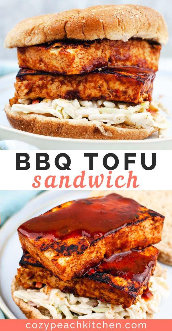 Easy BBQ Tofu Sandwich