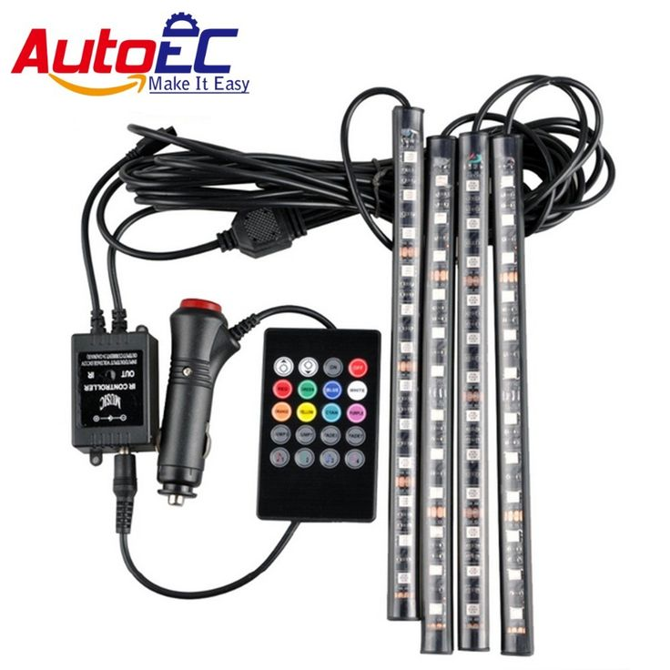 Best price US $18.00  AutoEC car interior led strip atmosphere Light 12SMD 5050 RGB wireless music control flexible LED lights  car styling decoration  #AutoEC #interior #strip #atmosphere #Light #wireless #music #control #flexible #lights #styling #decoration  #CyberMonday