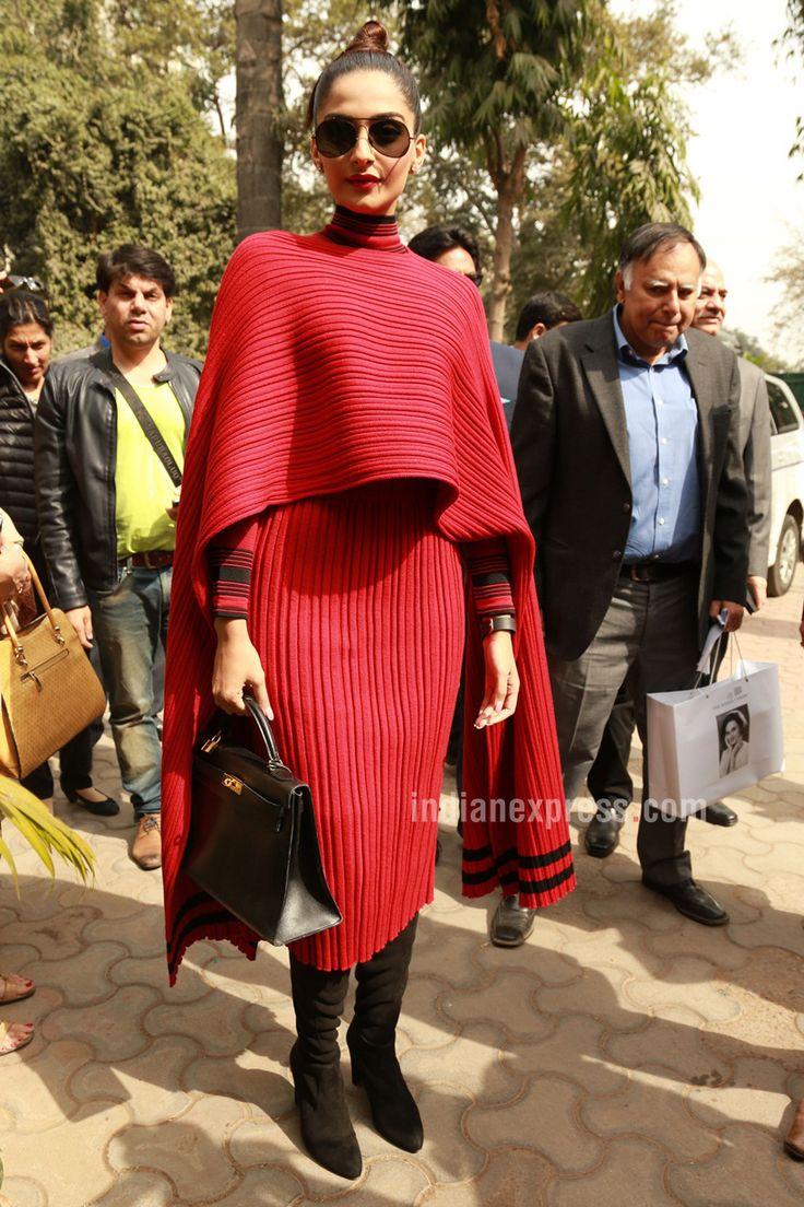 Sonam Kapoor in Delhi to launch #Neerja's biography.