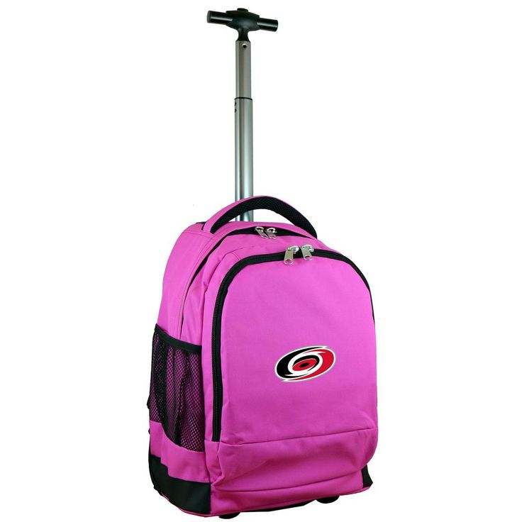 NHL Carolina Hurricanes 19 in. Pink Wheeled Premium Backpack