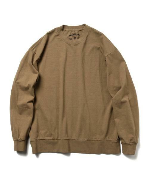 BEAMS T(ビームスティー)の「▲HEAVYWEIGHT COLLECTIONS / ソリッド ロングスリーブ Tシャツ(Tシャツ/カットソー)」|ベージュ